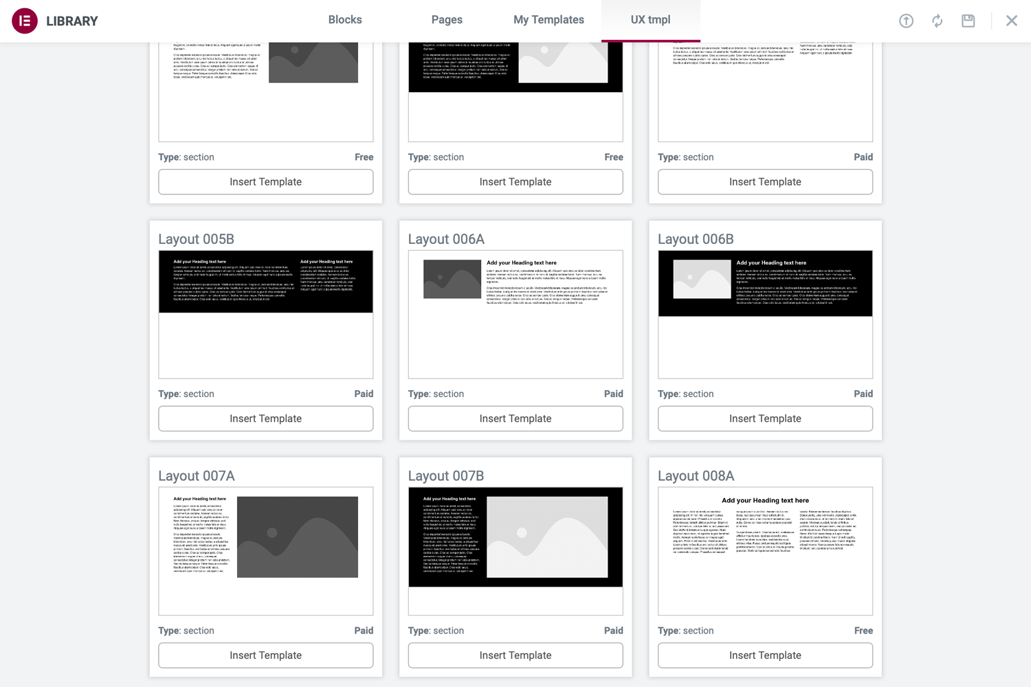 UX tmpl - Templates Counting
